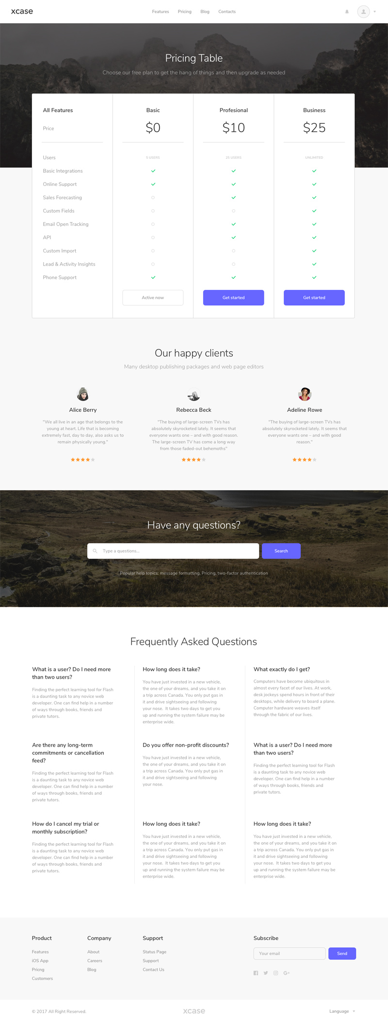 Pricing Table Website Template Made In Sketch Freebie Supply