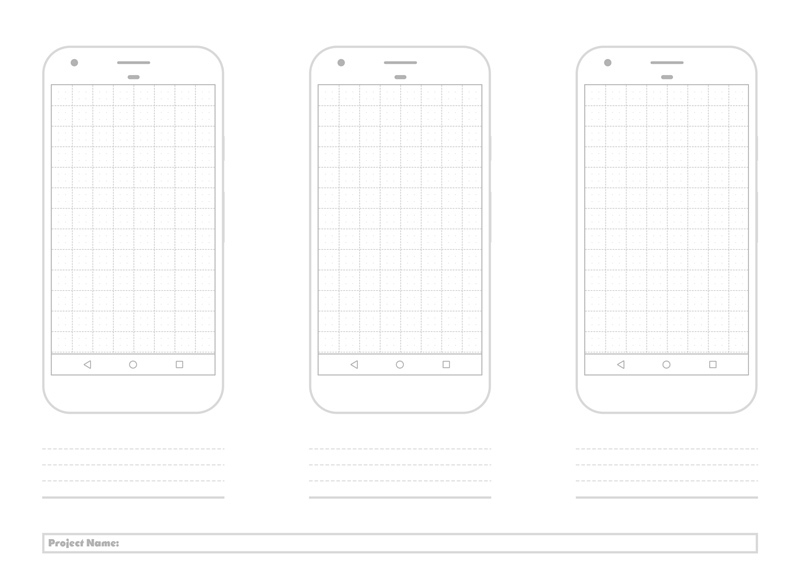 printable google nexus pixel grid template free psd freebie supply