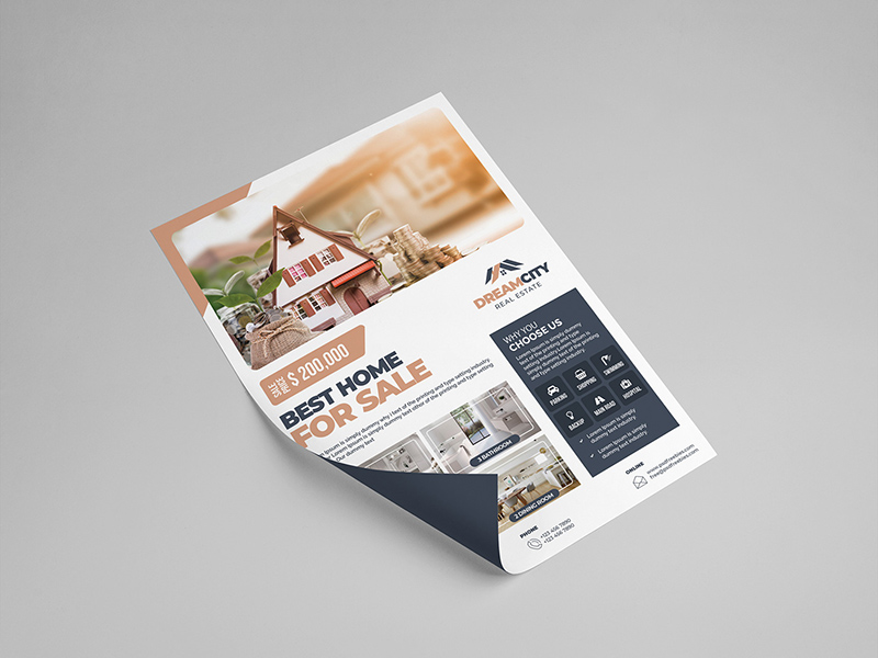 real estate flyer template  free psd