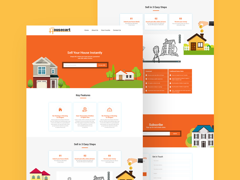 real estate website template free resource freebie supply
