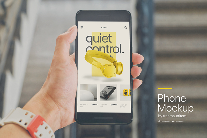 Realistic Phone Mockup: Free PSD - Freebie Supply