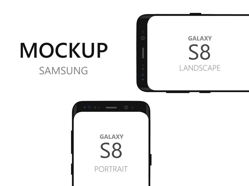 Samsung Galaxy S8 Mockup made with Adobe XD - Freebie Supply