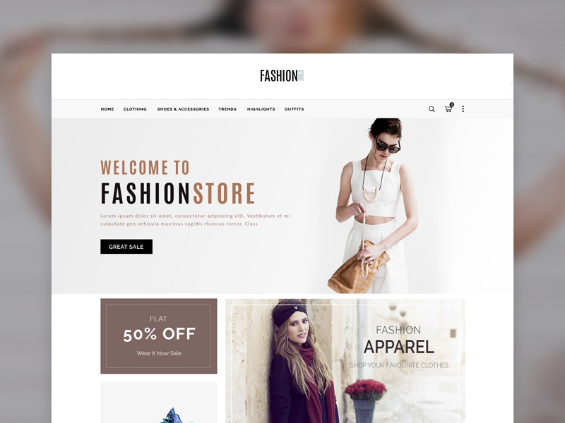 Simple Ecommerce Template Psd Freebie Supply