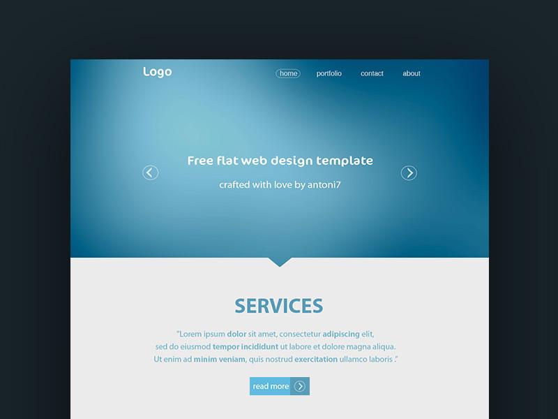 simple website template free psd freebie supply