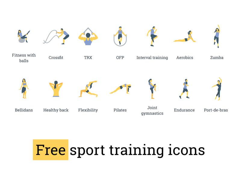 Sport Icons Set - Freebie Supply