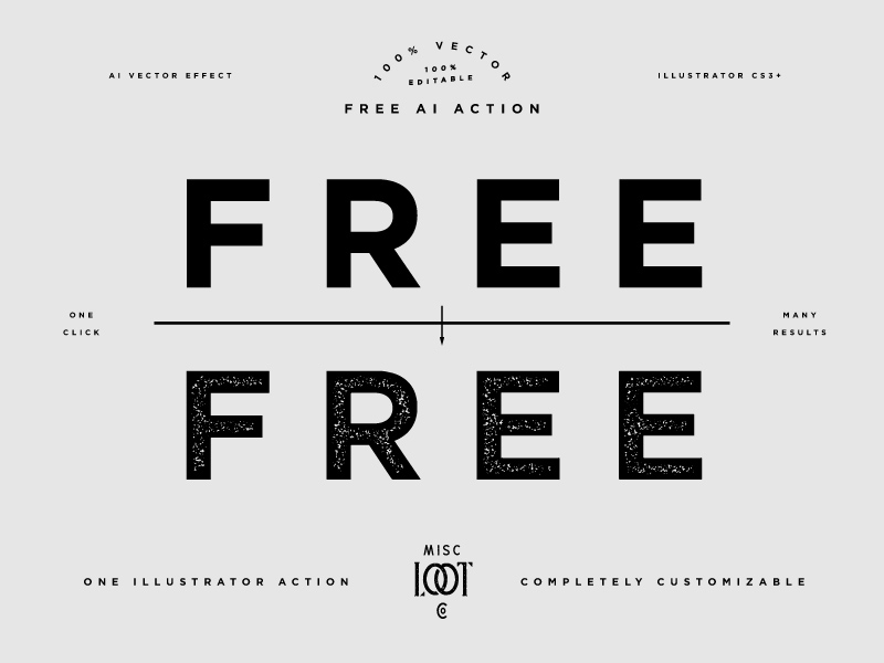 Stamp Texture and Action for Adobe Illustrator - Freebie Supply