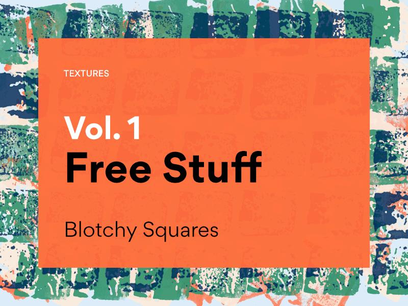 Blotchy Squares - Free Illustrator Textures - Freebie Supply