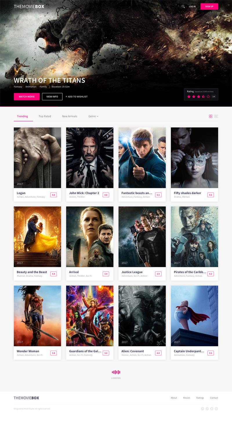 themoviebox movies website template for sketch freebie supply