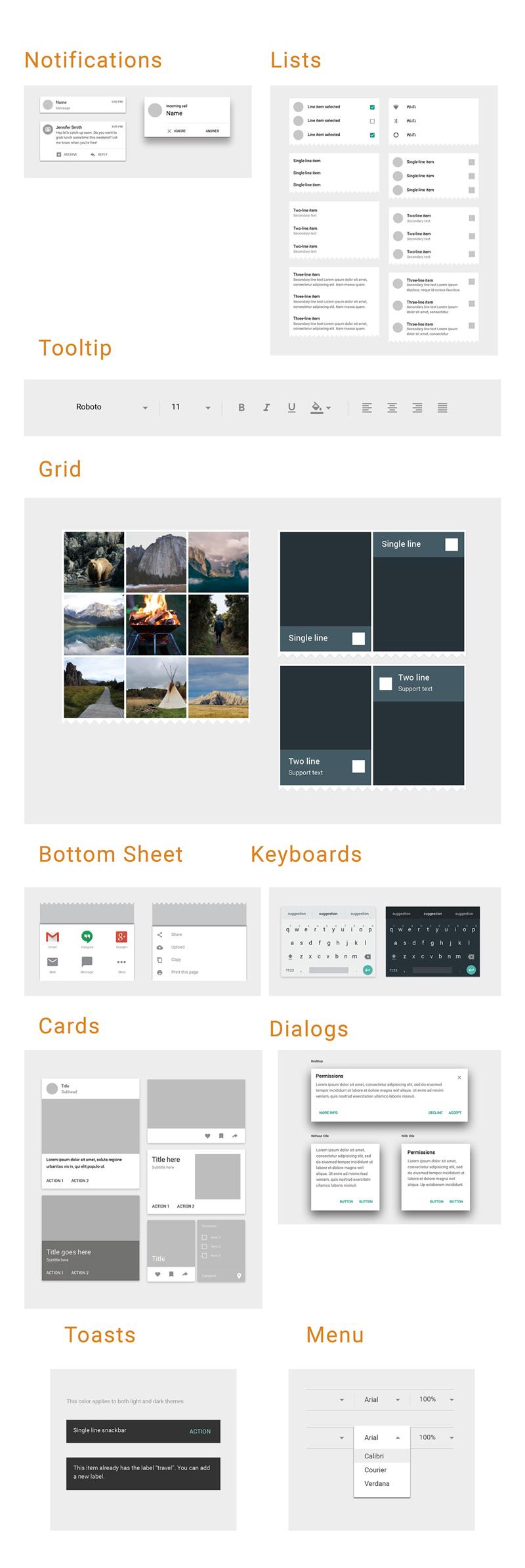Material Design Adobe Xd Ui Kit Freebie Supply