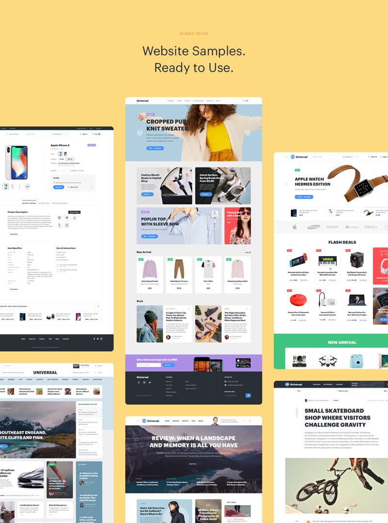 Universal Web UI Kit For Sketch - Freebie Supply