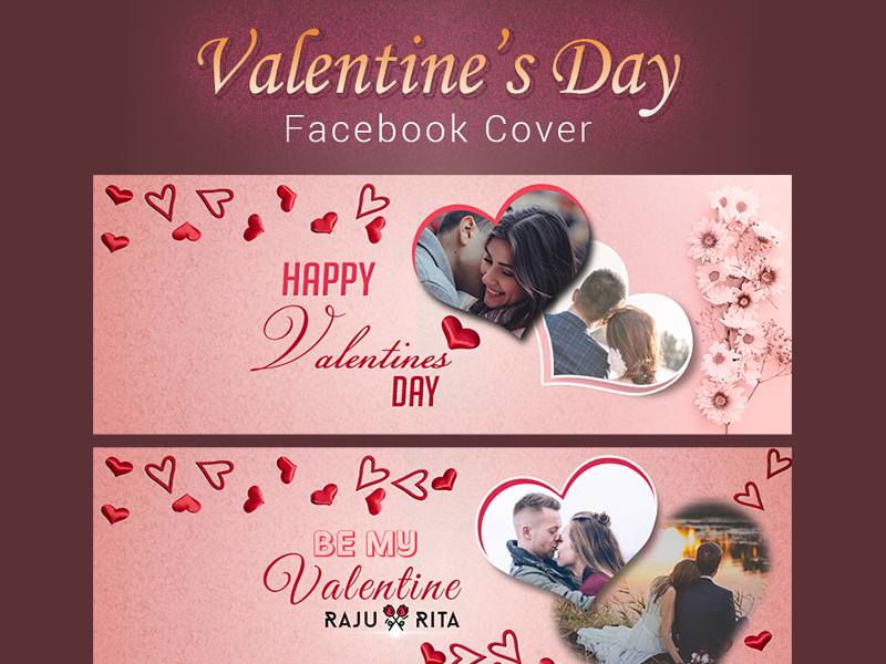 Valentines Day Facebook Cover Template Psd Freebie Supply