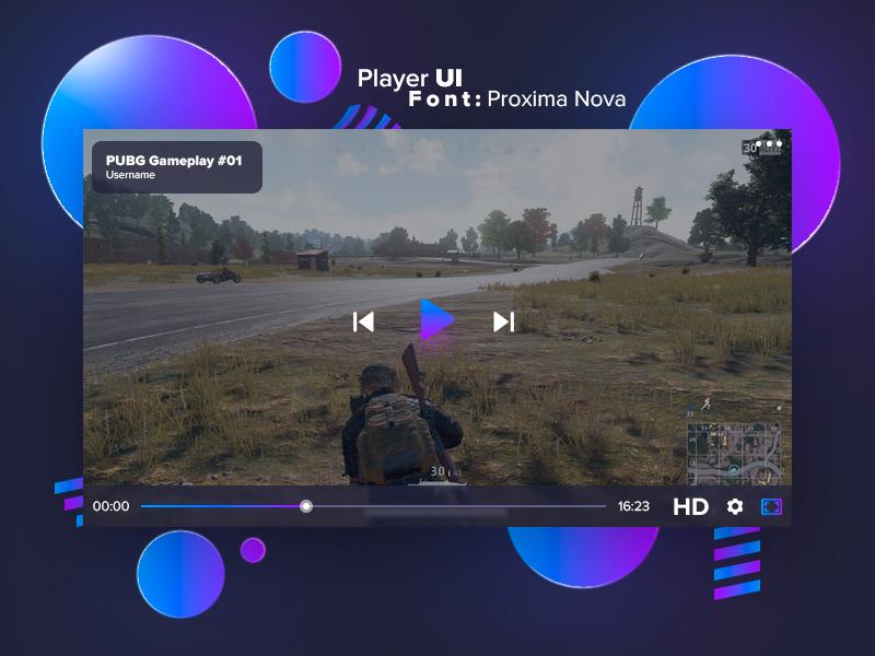 Video Player Ui Psd Freebie Supply