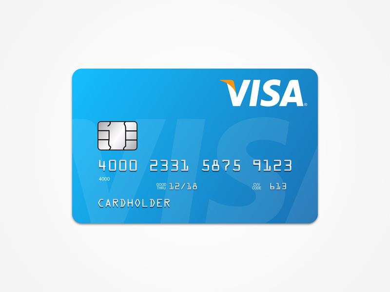 visa card template free sketch freebie supply
