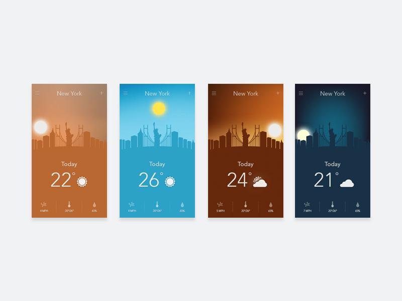 Weather App Prototype - Free Resource - Freebie Supply