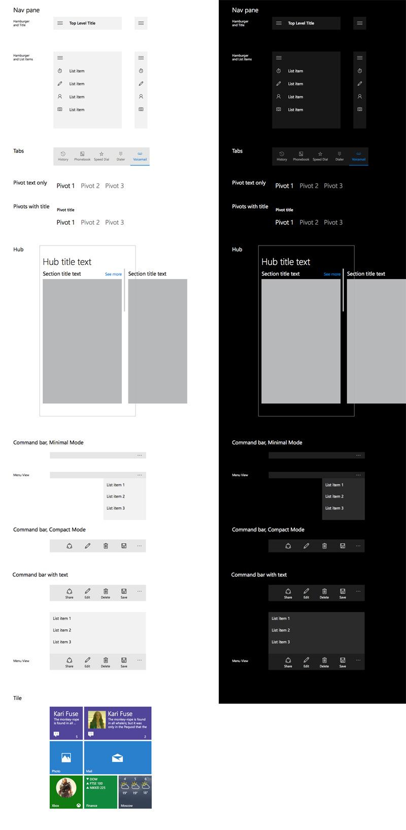 Windows 10 UI Kit for Sketch - Freebie Supply