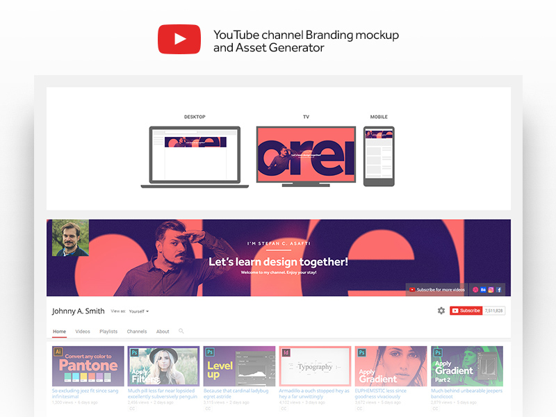 YouTube Channel Branding Template & Asset Generator - Free