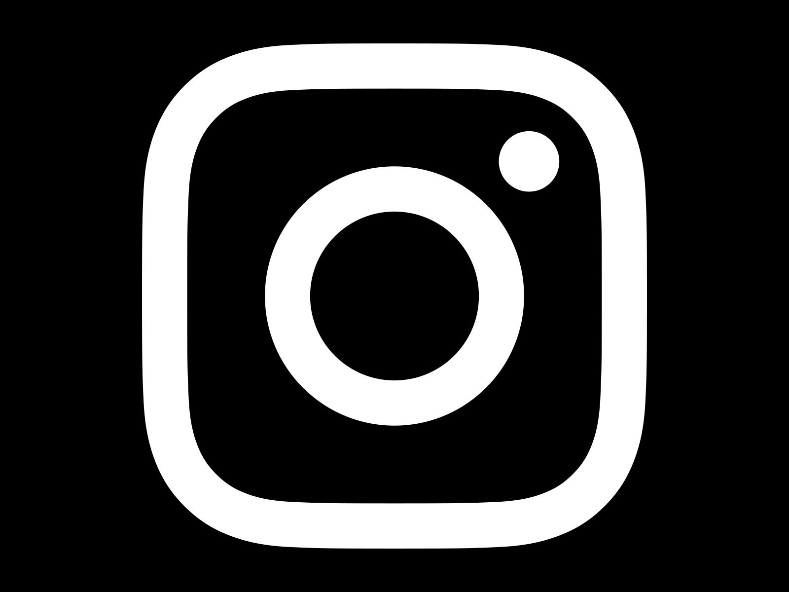 Instagram Logo White on Black