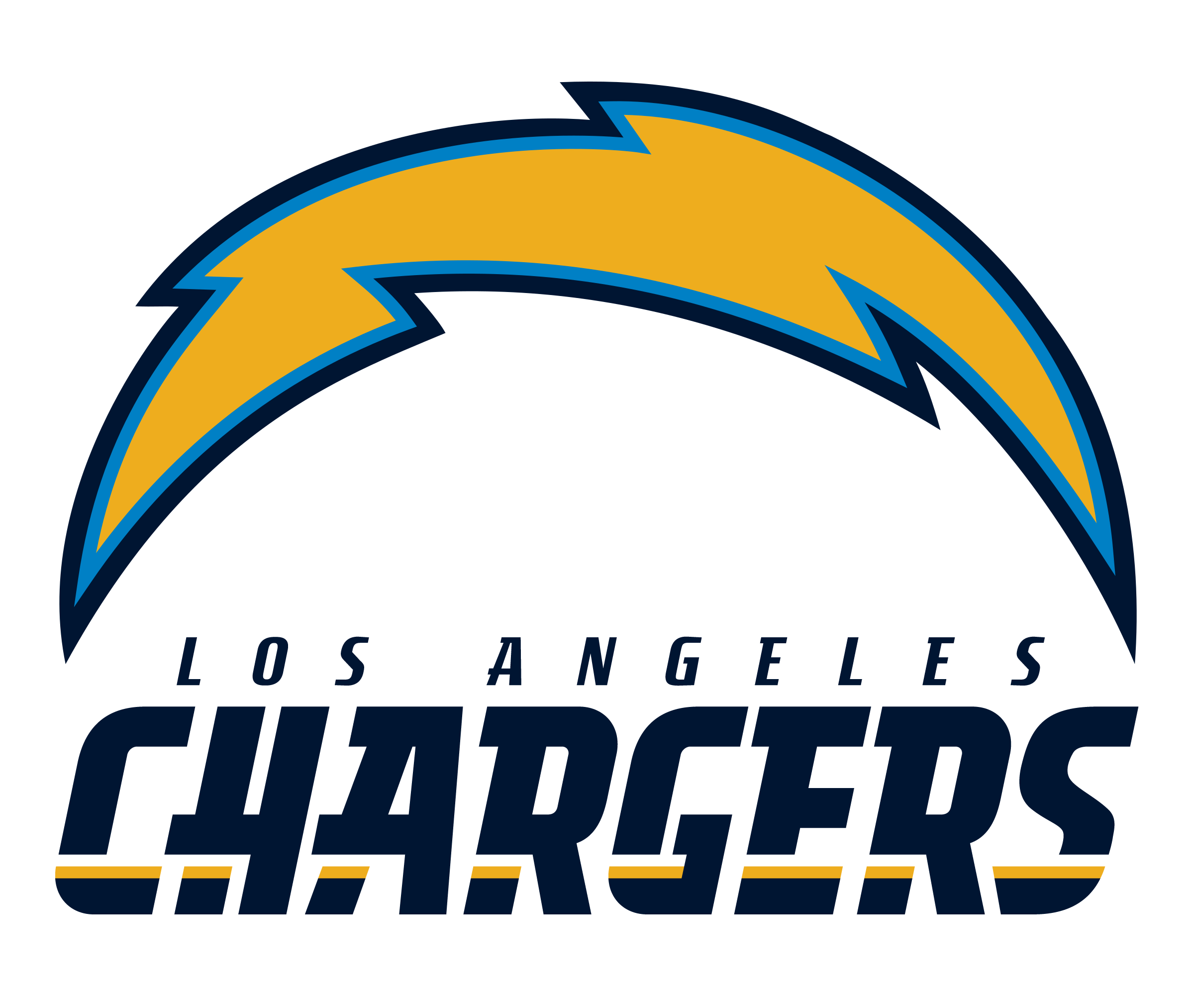 San Diego Chargers Bolt Logo: Los Angeles Chargers Logo PNG Transparent & SVG Vector