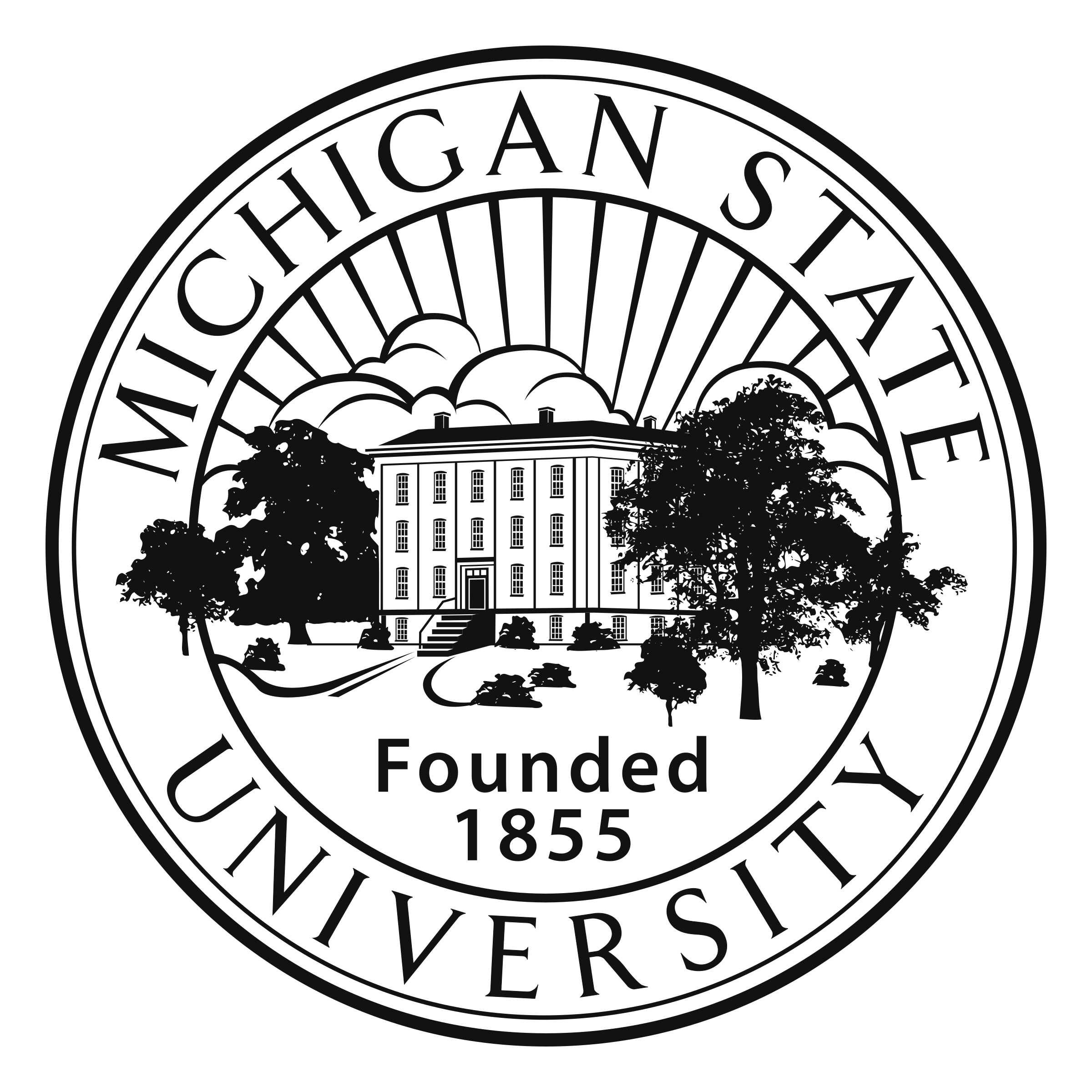 michigan state logo transparent svg vector freebie supply Two of the S G Logo michigan state logo black and white