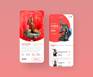 Action Figures For Sale App UI