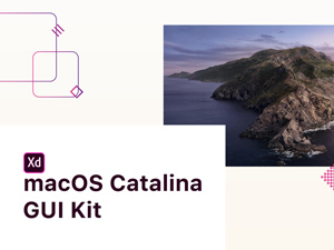MacOS Catalina GUI for Adobe XD