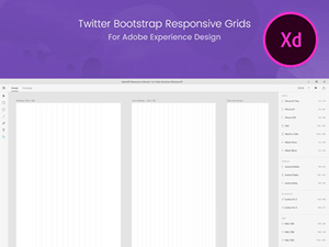 Adobe XD Bootstrap Grid Guide - Freebie Supply