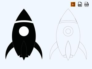Rocket Icon Vector
