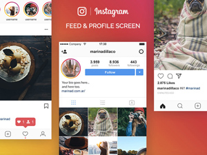 Instagram UI Templates Free To Download - Freebie Supply