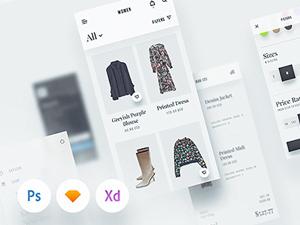 E-commerce Furniture Store Website - XD Template - Freebie