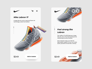 Nike Lebron 17 Product Screen Design