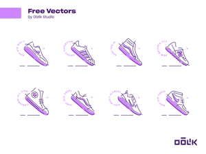 Sneakers Vector Icons
