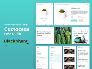 Adobe XD Template Kit - Navigations & Footers - Freebie Supply