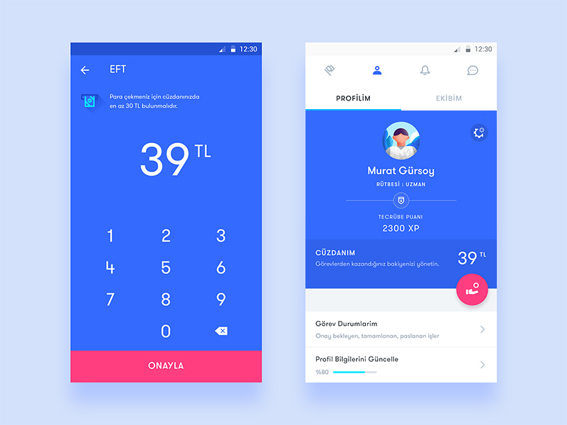 35 Fresh App Concepts Inspired by Material Design - Freebie