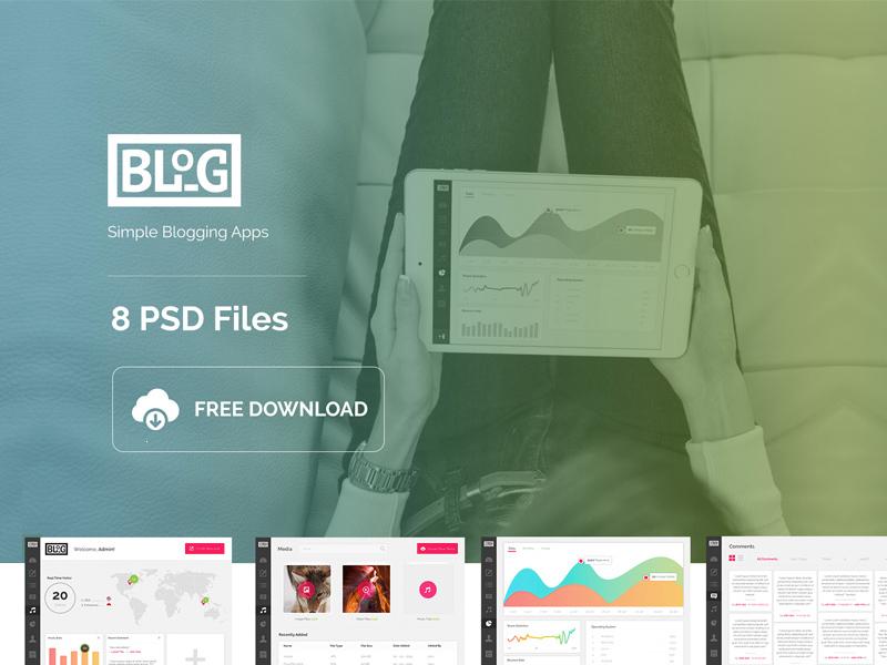 Blog Dashboard App : Free PSD - Freebie Supply