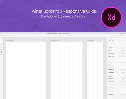 Adobe XD Bootstrap Grids - Freebie Supply