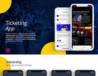 Concept Ticketing App With Full Adobe Xd Prototype & UI Kit