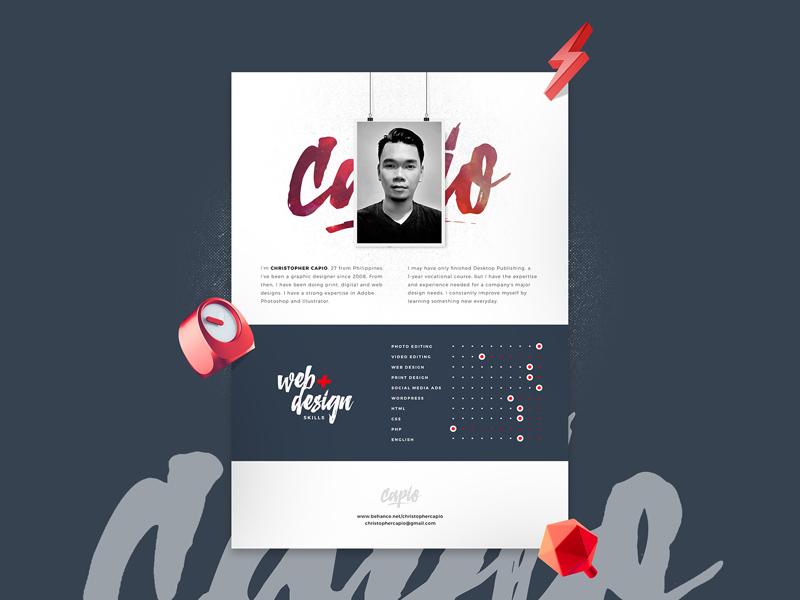 creative resume template psd