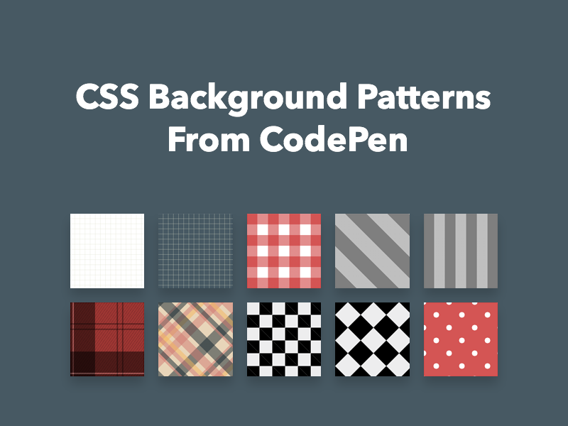 CSS Background Patterns From CodePen - Freebie Supply