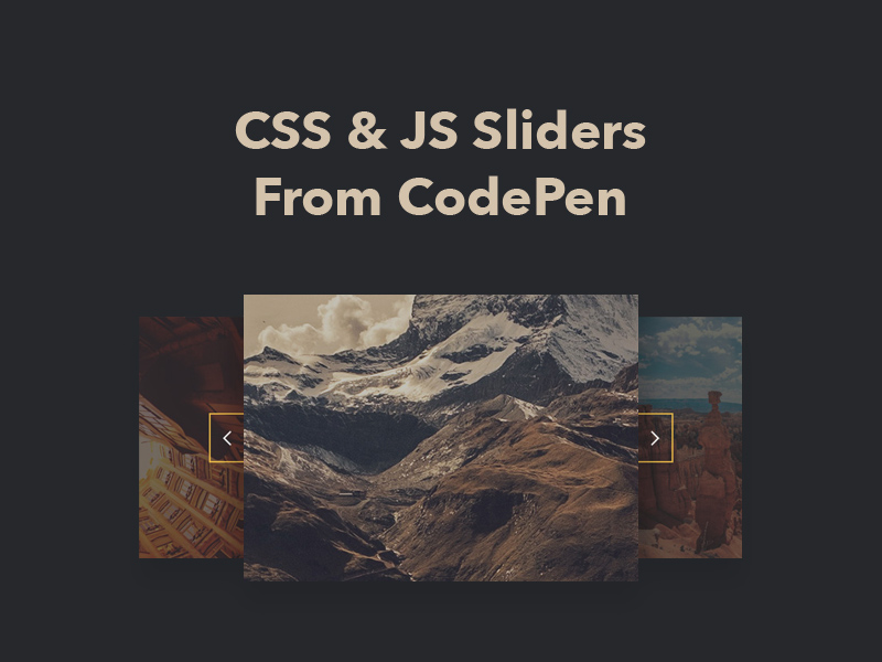 25+ CSS & JS Sliders From CodePen 2018 - Freebie Supply