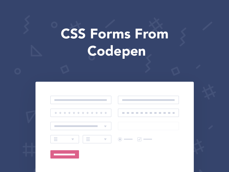 50 Css Form Examples From Codepen 2018 Freebie Supply