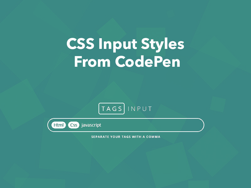 CSS Input Styles From CodePen - Freebie Supply