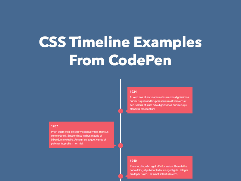 25 css timeline examples from codepen 2018 freebie supply