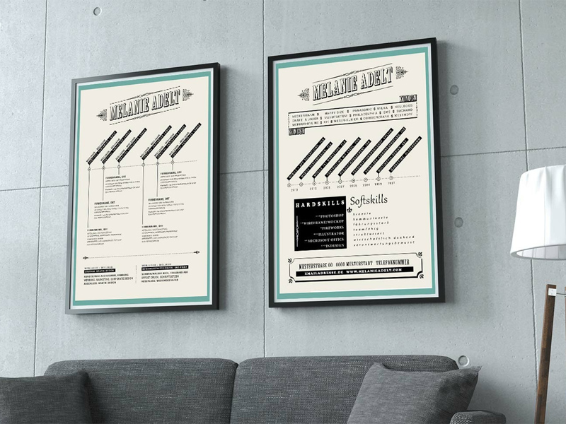 custom resume template - psd freebie