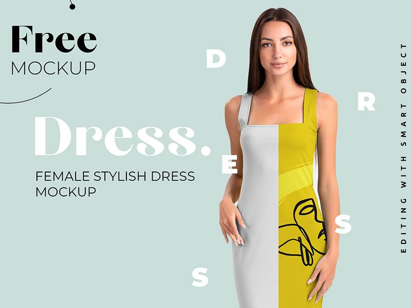 Dress Mockup - Free PSD - Freebie Supply