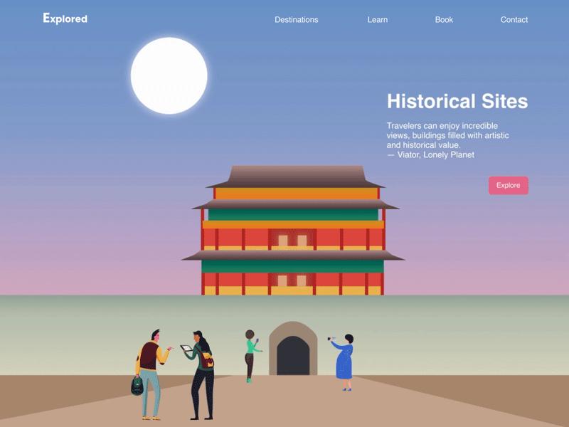 Travel Site Website Illustrations - Freebie Supply