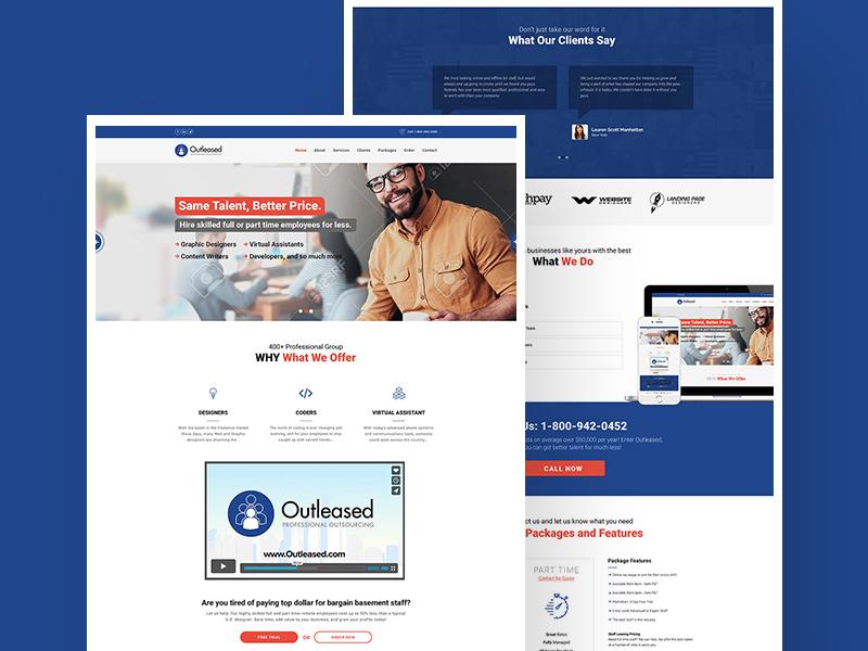 freelancer agency website template freebie supply