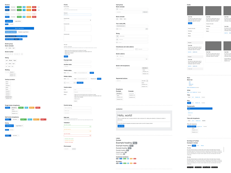 Bootstrap 4 Vector GUI Pack - Freebie Supply