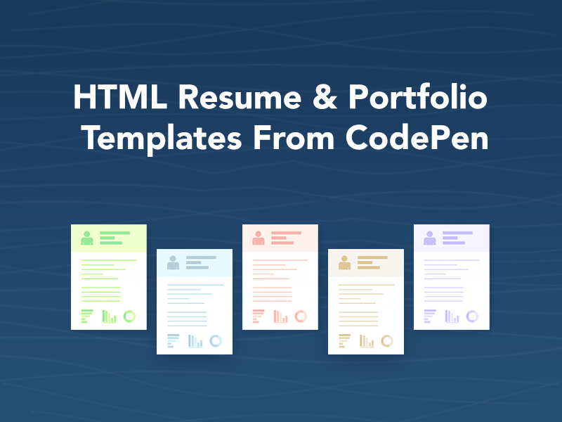 html resume  u0026 portfolio templates from codepen