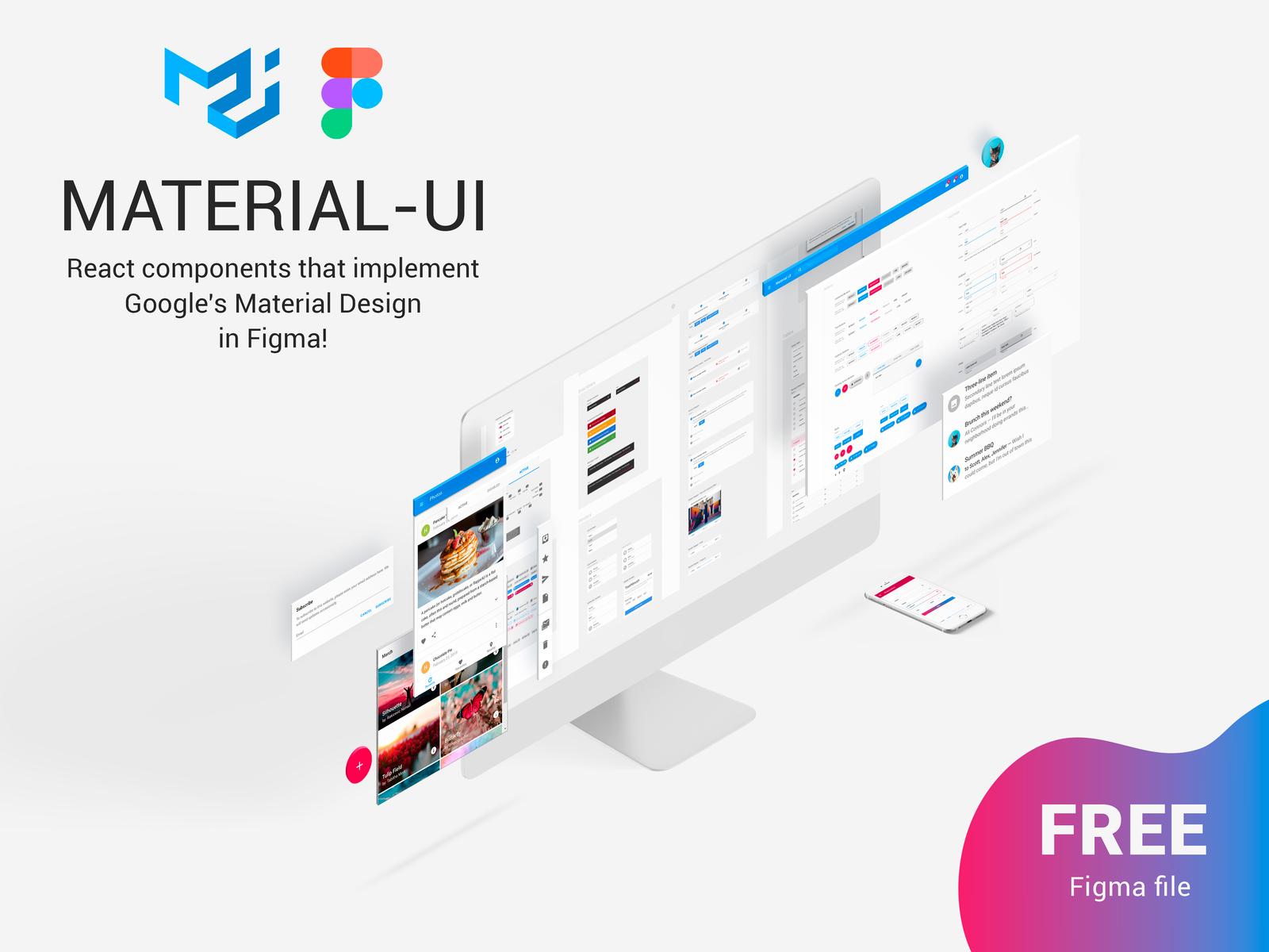 Figma React Components - Material-UI - Freebie Supply