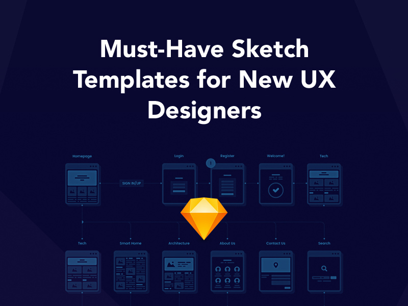 Must,Have Sketch Templates for New UX Designers , Freebie Supply